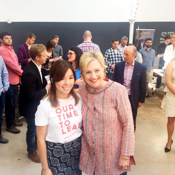 Hillary Clinton and Women Who Startup Member in Our Time to Lead tee